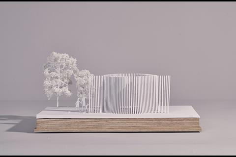 Serpentine Summer House 2016 - model designed by Asif Khan